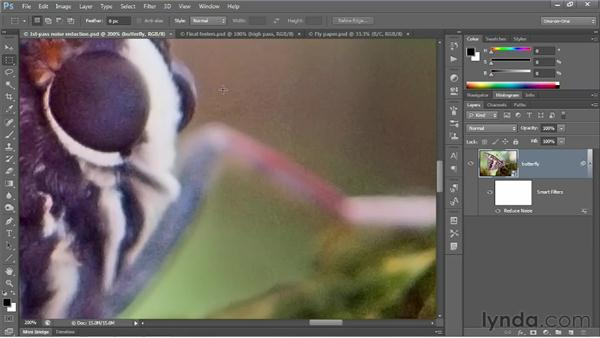 Smoothing over high-contrast noise: Photoshop CS6 One-on-One: Advanced