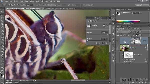 Adjusting overly saturated shadows: Photoshop CS6 One-on-One: Advanced
