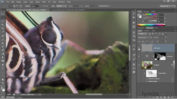 Correcting with High Pass and Lens Blur: Photoshop CS6 One-on-One: Advanced