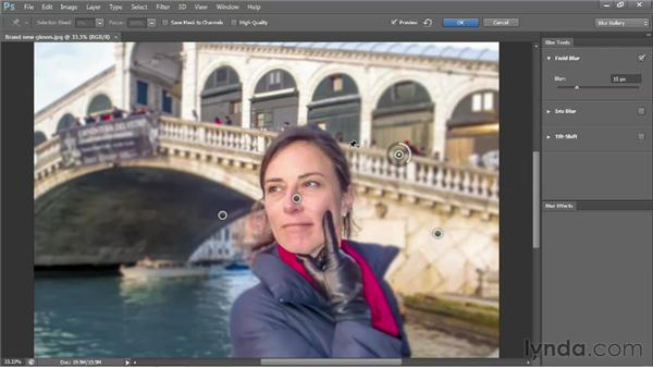 Creating depth-of-field effects in post: Photoshop CS6 One-on-One: Advanced