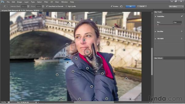 Editing and exporting a Field Blur mask: Photoshop CS6 One-on-One: Advanced