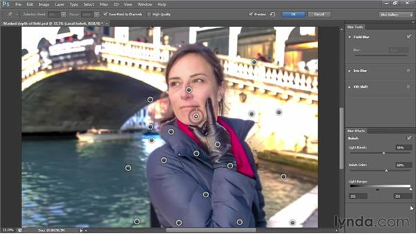 Adding a synthetic light bokeh: Photoshop CS6 One-on-One: Advanced