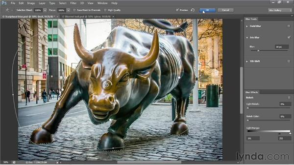 Creating a radial blur with Iris Blur: Photoshop CS6 One-on-One: Advanced