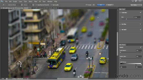 Combining multiple Blur Gallery effects: Photoshop CS6 One-on-One: Advanced