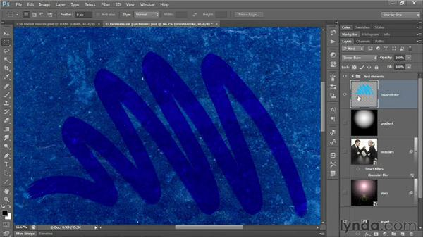 Screen and the lighten modes: Photoshop CS6 One-on-One: Advanced