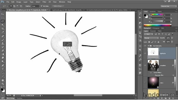 Cleaning up and integrating a bad photo: Photoshop CS6 One-on-One: Advanced