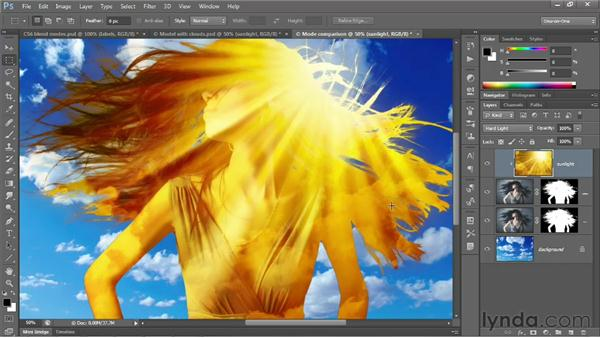 Overlay and the contrast modes: Photoshop CS6 One-on-One: Advanced