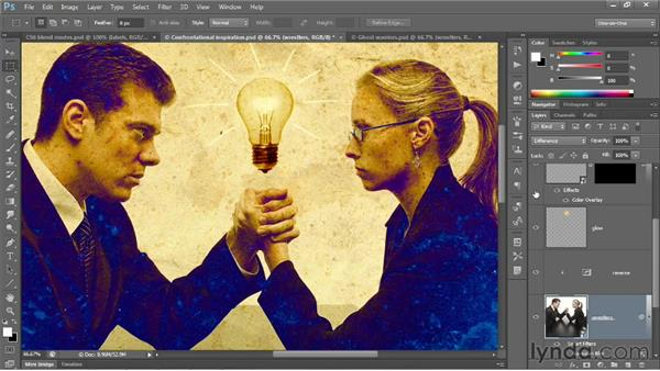 Difference, Exclusion, Subtract, and Divide: Photoshop CS6 One-on-One: Advanced