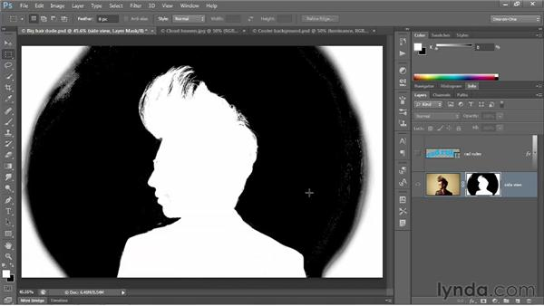 Laying down a base layer mask: Photoshop CS6 One-on-One: Advanced