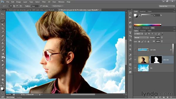 The transformative power of Refine Edge: Photoshop CS6 One-on-One: Advanced