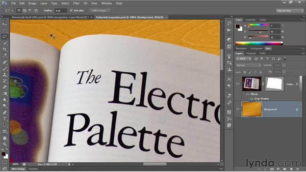 Pixel-based masking versus the Pen tool: Photoshop CS6 One-on-One: Advanced