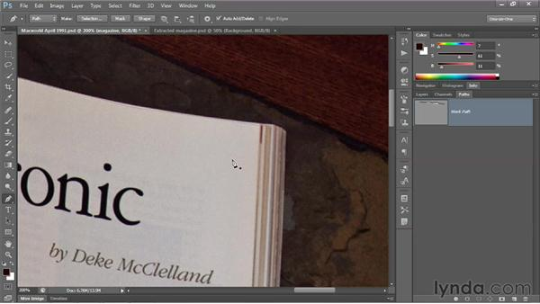 Drawing a straight-sided path outline: Photoshop CS6 One-on-One: Advanced