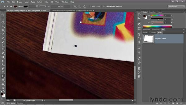 Moving, deleting, and adding anchor points: Photoshop CS6 One-on-One: Advanced