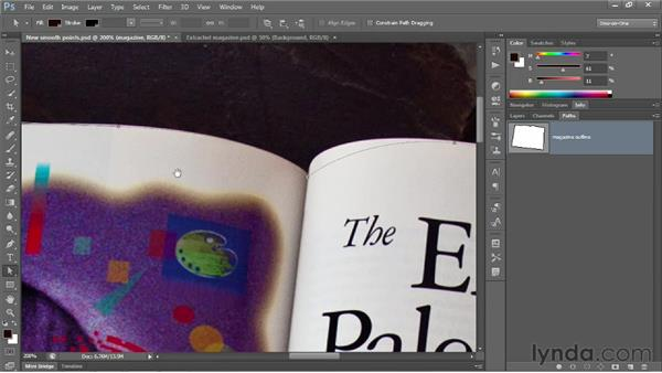 Dragging control handles to modify curves: Photoshop CS6 One-on-One: Advanced