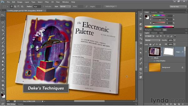 Converting a path outline to a vector mask: Photoshop CS6 One-on-One: Advanced