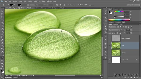 How to position points and control handles: Photoshop CS6 One-on-One: Advanced