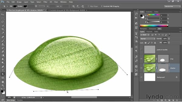 Duplicating and scaling a vector mask: Photoshop CS6 One-on-One: Advanced
