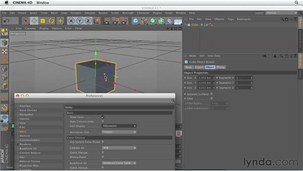 Exploring key application preferences: CINEMA 4D Essentials 1: Interface, Objects, and Hierarchies