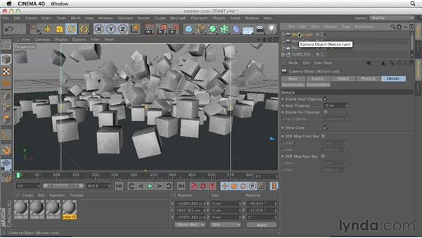 Creating dynamic camera movement with Motion Camera: CINEMA 4D Essentials 3: Cameras, Animation, and Deformers