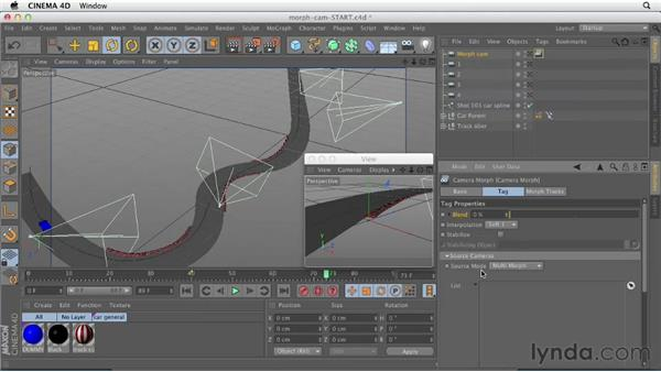Building smooth shots with Camera Morph: CINEMA 4D Essentials 3: Cameras, Animation, and Deformers