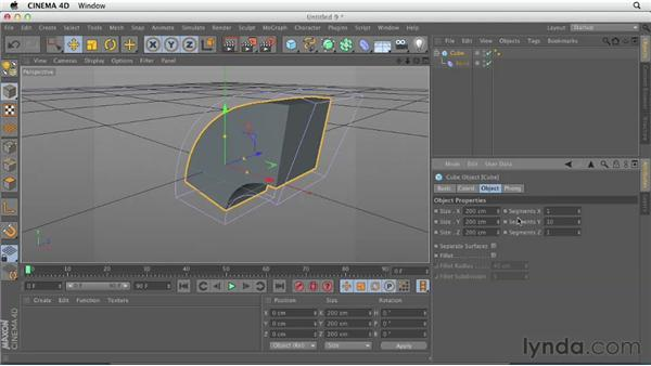 The deformer workflow: CINEMA 4D Essentials 3: Cameras, Animation, and Deformers