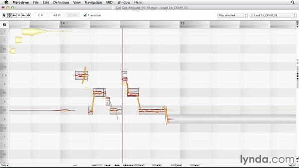 Correcting pitch automatically: Melodyne Advanced Techniques