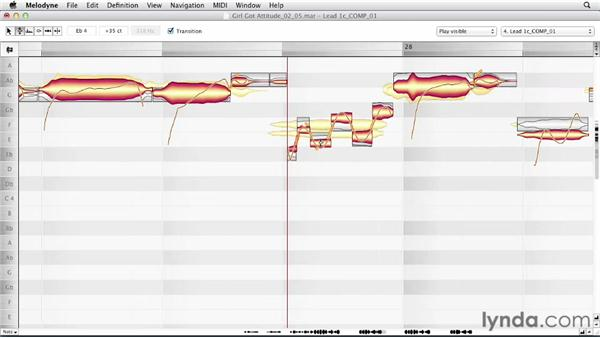 Correcting lead vocal pitch: Melodyne Advanced Techniques