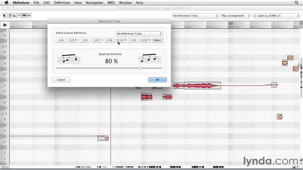 Correcting lead vocal rhythm: Melodyne Advanced Techniques