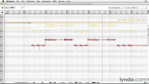 Correcting background vocal rhythm: Melodyne Advanced Techniques