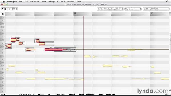 Correcting harmony vocal rhythm: Melodyne Advanced Techniques
