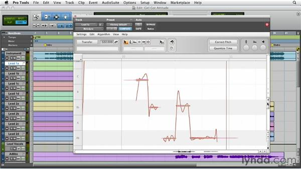 Making further edits using the Melodyne plug-in: Melodyne Advanced Techniques