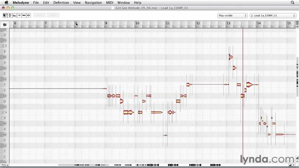 Using MIDI to edit or perform a recording: Melodyne Advanced Techniques