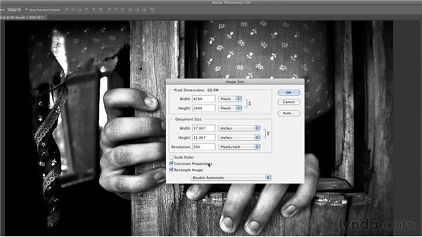 Reducing image size in Photoshop: Inkjet Printing for Photographers