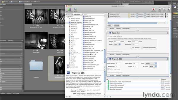 Creating a triptych using Automator on a Mac: Inkjet Printing for Photographers