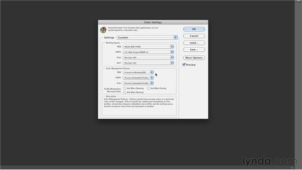 Configuring Photoshop's color settings: Inkjet Printing for Photographers