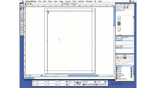 navigating: QuarkXPress 6 Essential Training