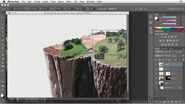 Adding plateau details: Bert Monroy: Dreamscapes Volume 1