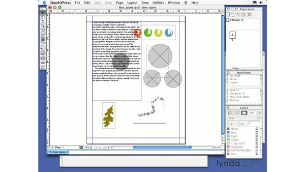 item tool: QuarkXPress 6 Essential Training
