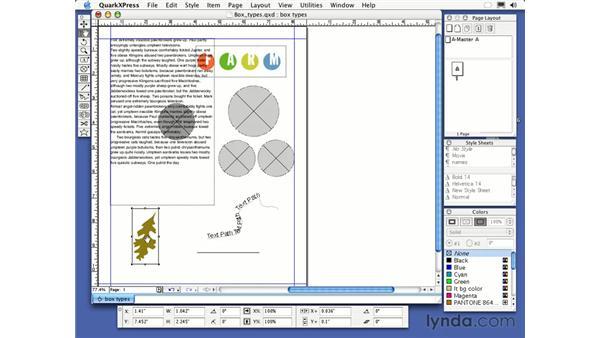 content tool: QuarkXPress 6 Essential Training
