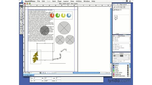 textbox tool: QuarkXPress 6 Essential Training