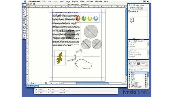bezier textbox tool: QuarkXPress 6 Essential Training