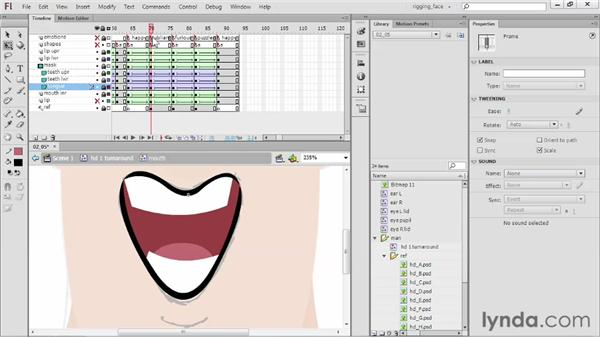 Building unique mouth shapes: Rigging a Face in Flash Professional