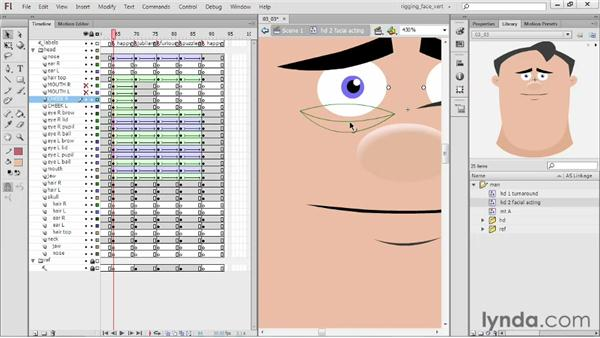 Fine-tuning expressions: Rigging a Face in Flash Professional