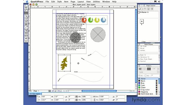 rotate tool: QuarkXPress 6 Essential Training