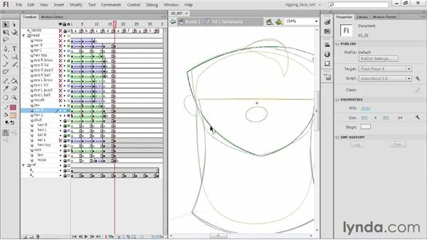 Creating the E head (rear): Rigging a Face in Flash Professional