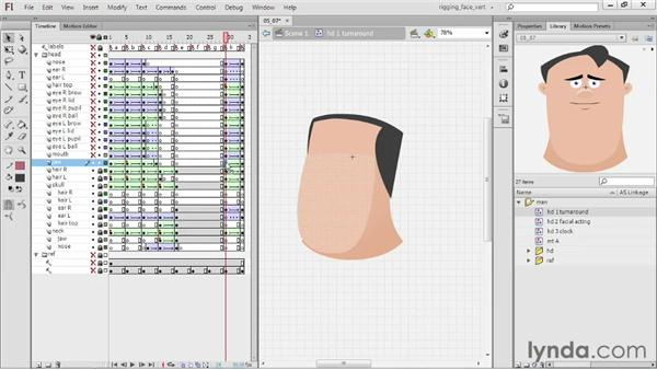Creating the H head: Rigging a Face in Flash Professional