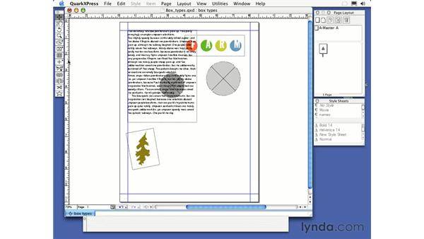 line tool: QuarkXPress 6 Essential Training