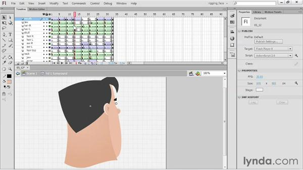 Creating other mouths: Rigging a Face in Flash Professional