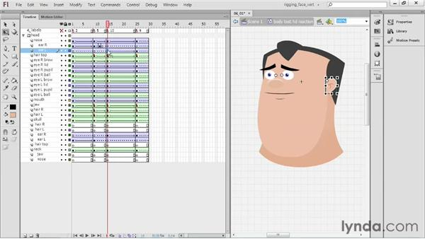 Putting together a head rotation: Rigging a Face in Flash Professional