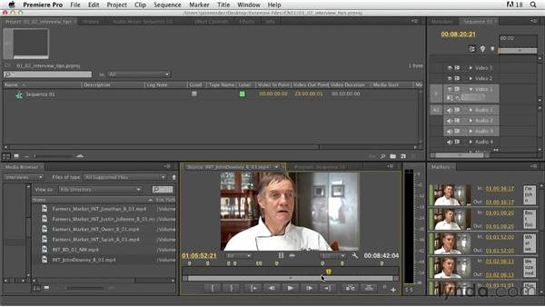 Tips for working with interviews: Documentary Editing with Premiere Pro
